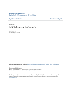 Self-Reliance in Millennials - Scholarly Commons @ Ouachita
