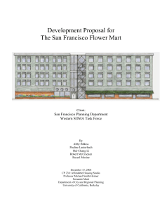 Development Proposal for The San Francisco Flower Mart