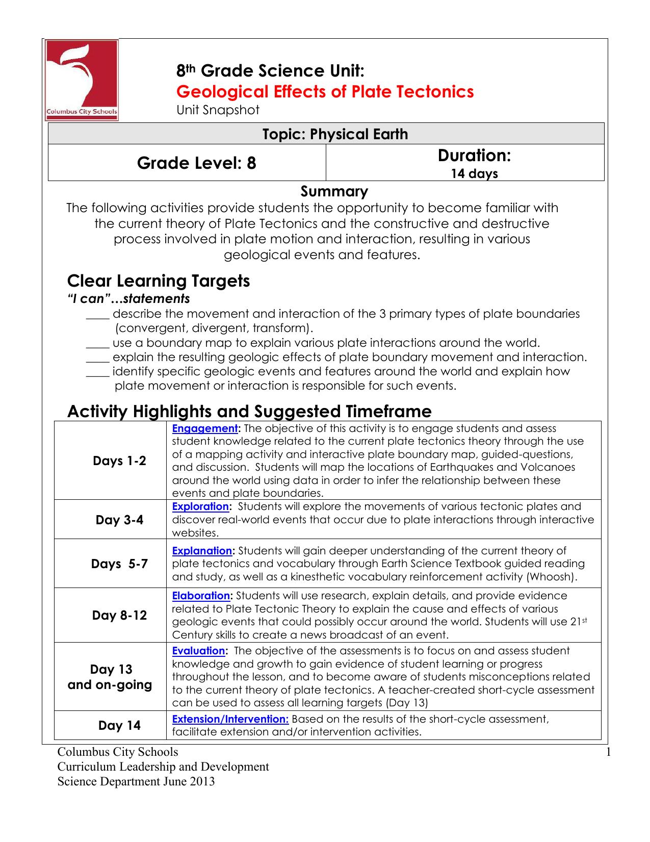worksheet Types Of Plate Boundaries Worksheet usable types of plate boundaries worksheet goodsnyc com geological effects plate