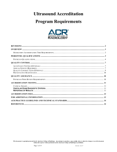 Ultrasound Accreditation Program Requirements