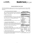 using the nutrition facts label