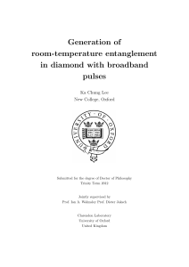 Generation of room-temperature entanglement in