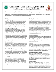 Marriage Redefinition Lead Messages 2 page