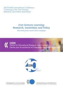 21st Century Learning: Research, Innovation and Policy