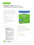 GREENS CHEW {BERRY BLUE}