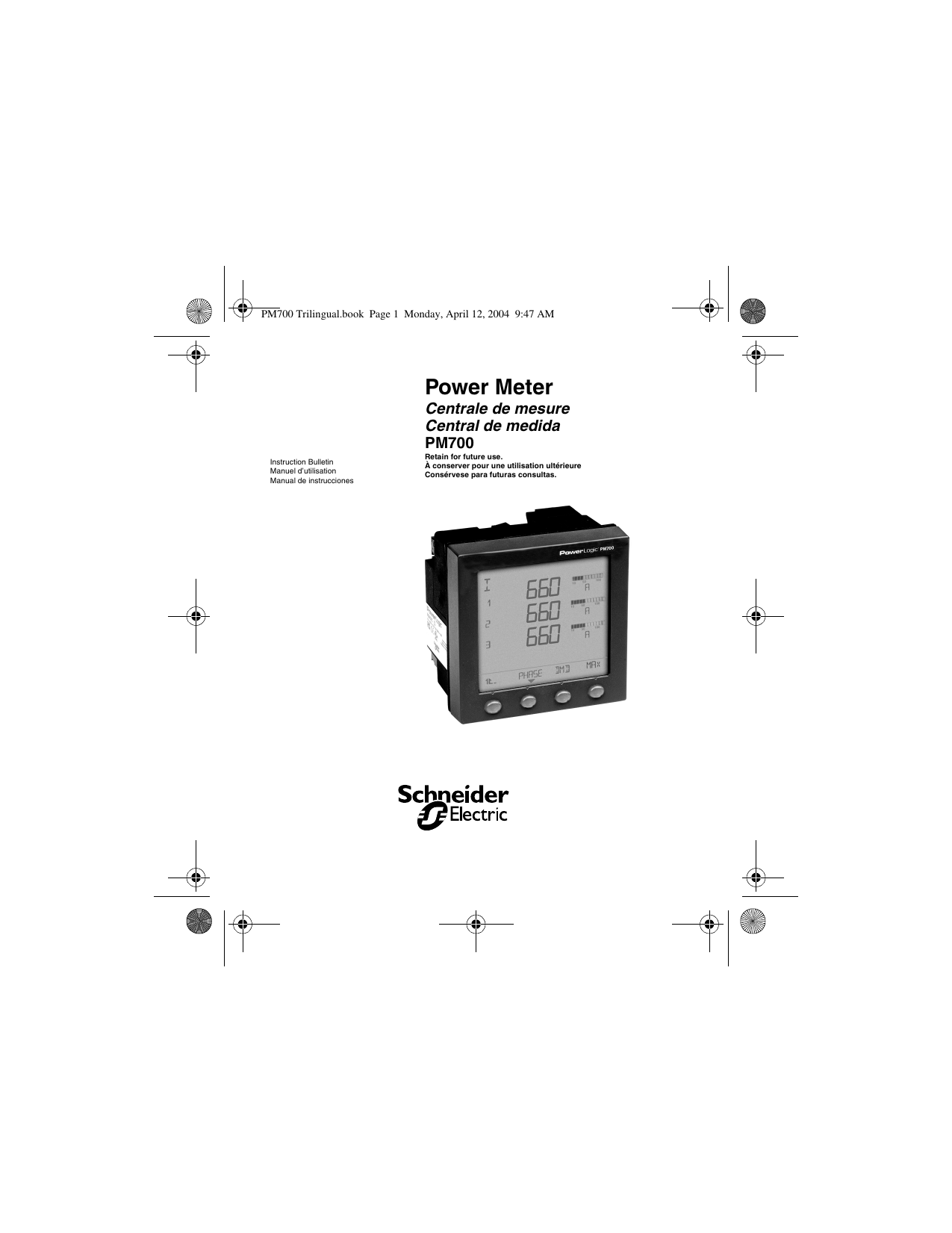 Powerlogic® pm700 series.