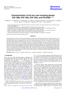 Characterization of the four new transiting planets KOI