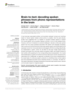 Brain-to-text: decoding spoken phrases from phone
