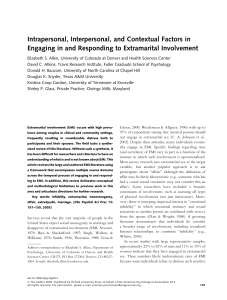 Intrapersonal, Interpersonal, and Contextual Factors in Engaging in