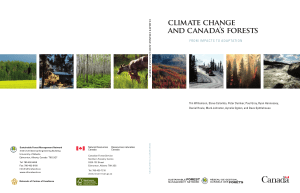 cliMAtE chANGE ANd cANAdA`S FOREStS