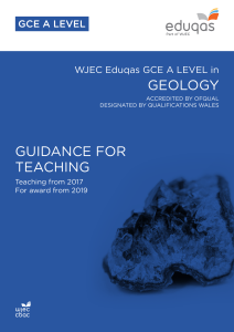 geology guidance for teaching