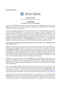 BASE PROSPECTUS ARION BANK HF. €2000000000