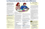 Let financial planning make your difference