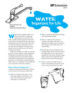 Water: Important for Life - University of Tennessee Extension