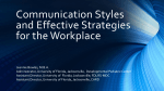 Communication Styles and Effective Strategies for the Workplace
