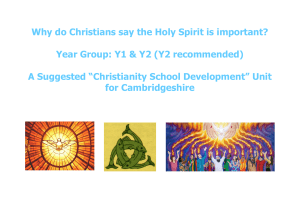 KS1 Why do Christians say the Holy Spirit is important.pub - Stir-Up!