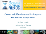 Ocean acidification and its impacts on marine ecosystems