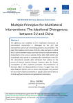 Multiple Principles for Multilateral Interventions: The Ideational