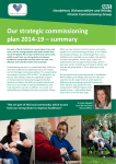 Our strategic commissioning plan 2014