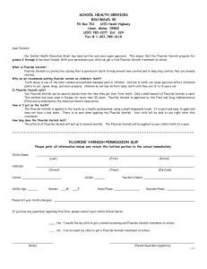 Fluoride varnish permission slip
