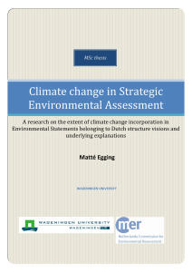 Climate change in Strategic Environmental Assessment
