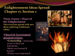 Enlightenment Ideas Spread: Chapter 17, Section 2