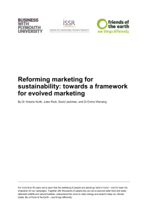 Reforming marketing for sustainability