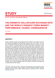 THE ENIGMATIC DOLLAR-EURO EXCHANGE RATE AND THE