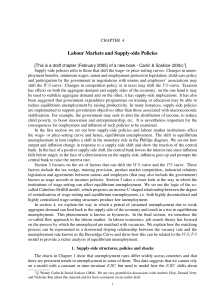 Labour Markets and Supply-side Policies