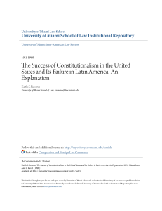 The Success of Constitutionalism in the United States and Its Failure