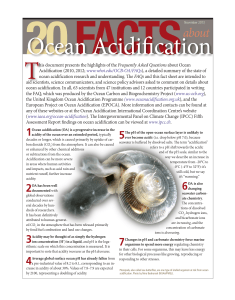 20 facts on ocean acidification