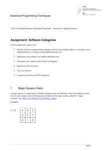 Assignment: Software Categories