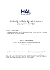 Relational Data Mining Through Extraction of Representative