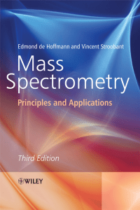 Mass Spectrometry Principles and Applications