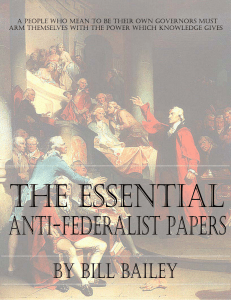 The Essential Quotes from the Anti-federalist