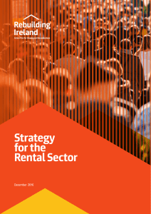 Strategy for the Rental Sector - Department of Housing, Planning