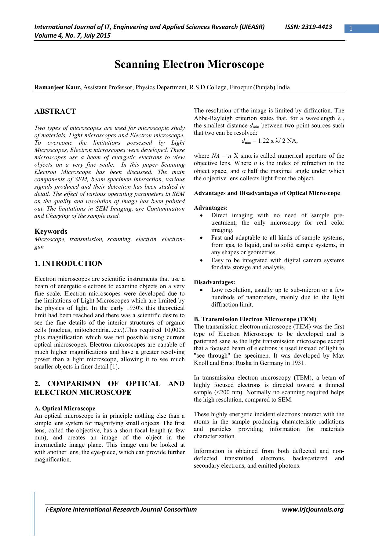 scanning electron microscopy x ray microanalysis and analytical electron microscopy a laboratory workbook