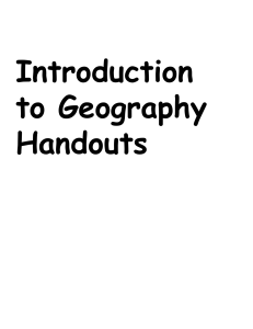 Introduction to Geography Handouts