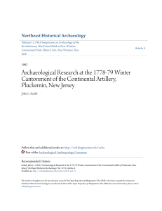 Archaeological Research at the 1778-79 Winter