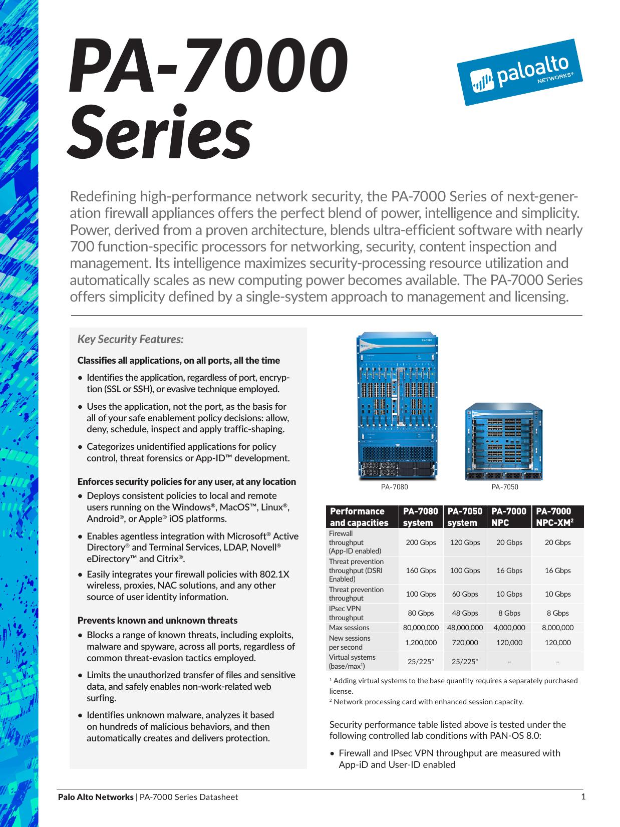 PA-7000 Series - Palo Alto Networks