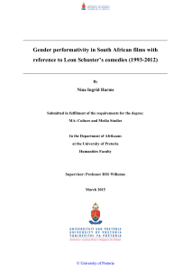 Gender performativity in South African films with reference to Leon