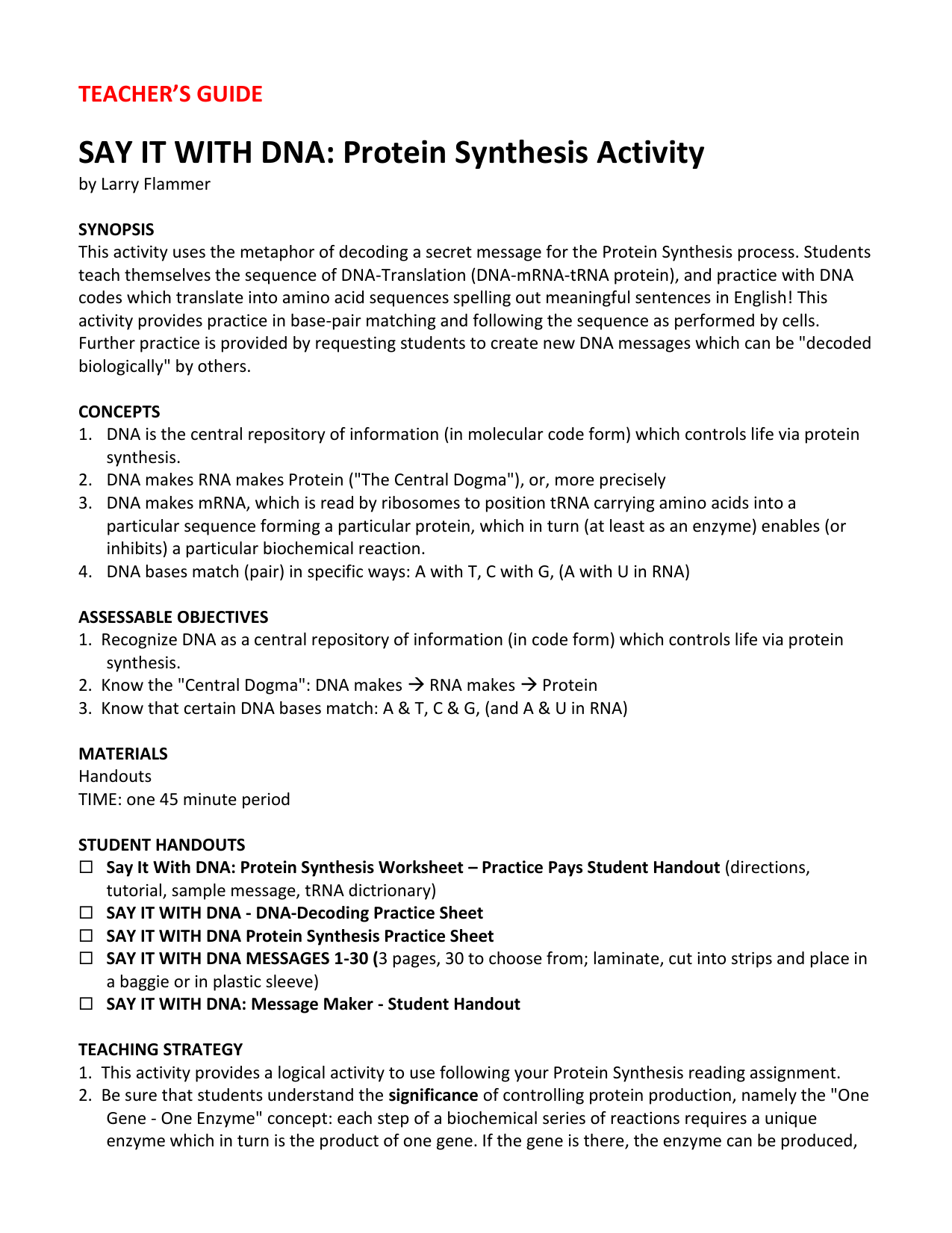 Worksheets Protein Synthesis Worksheet say it with dna protein synthesis worksheet practice
