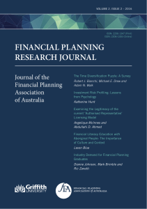 FINANCIAL PLANNING RESEARCH JOURNAL