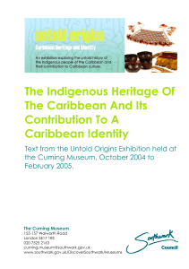 The Indigenous Heritage Of The Caribbean And Its