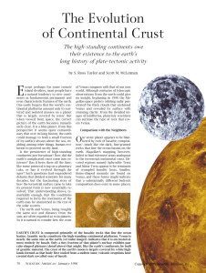 R7: Taylor-Evolution of Continental Crust