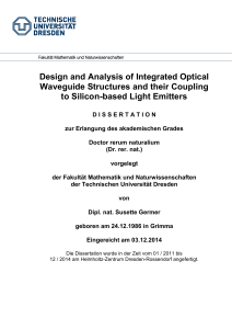 Design and Analysis of Integrated Optical Waveguide Structures and