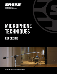 Microphone Techniques for Recording (English)