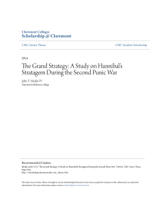 The Grand Strategy: A Study on Hannibal`s Stratagem During the