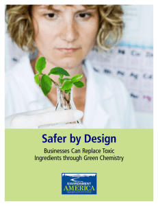 Safer by Design - Environment America