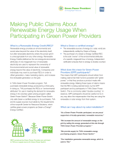 Making Public Claims About Renewable Energy Usage